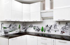 Деревья для скинали в интерьере кухни - 35260