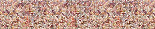 Скинали - Стена из разноцветных камушков