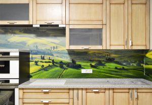 Природа для скинали в интерьере кухни - 35390