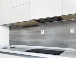 Линии, полосы для скинали в интерьере кухни - 35430