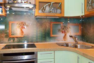 Природа для скинали в интерьере кухни - 35437