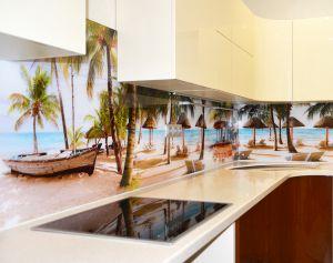 Природа для скинали в интерьере кухни - 35442