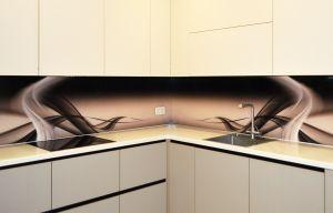 Волны для скинали в интерьере кухни - 35446
