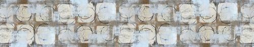Скинали - Ряд квадратов и окружностей красками