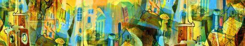 Скинали - Рисунок абстрактного города