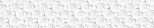 Скинали - Объемные окружности, белый фон