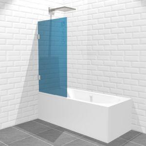 Шторка для ванны распашная