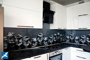 Лед для скинали в интерьере кухни - 21959