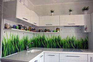 Природа для скинали в интерьере кухни - 21993