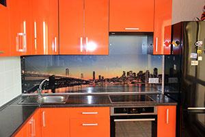 Скинали для оранжевой кухни - 22012