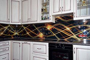 Звезды для скинали в интерьере кухни - 22060