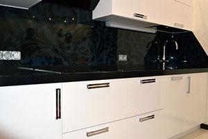 Цветочные для скинали в интерьере кухни - 22062
