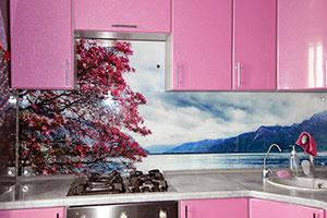 Озеро для скинали в интерьере кухни - 22068
