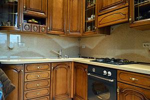 Песок, ракушки для скинали в интерьере кухни - 22077