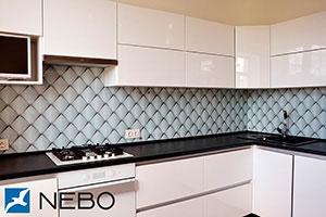 Металл для скинали в интерьере кухни - 21966