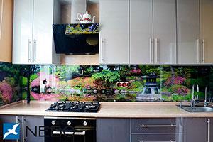 Сад для скинали в интерьере кухни - 21987