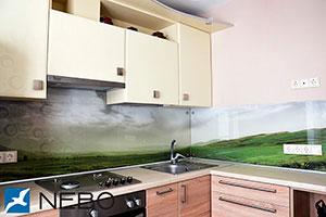 Поле для скинали в интерьере кухни - 21989