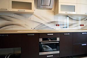 Волны для скинали в интерьере кухни - 22096