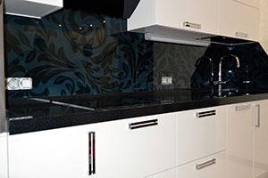 Цветочные для скинали в интерьере кухни - 22100