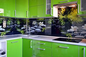 Гардения для скинали в интерьере кухни - 22112