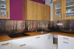 Лес для скинали в интерьере кухни - 22196