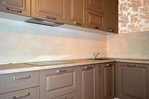 Узор для скинали в интерьере кухни - 22429