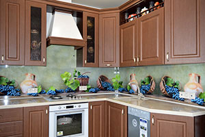 Фрукты, ягоды для скинали в интерьере кухни - 22449