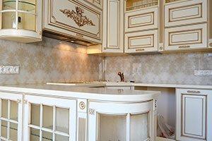 Узор для скинали в интерьере кухни - 22453
