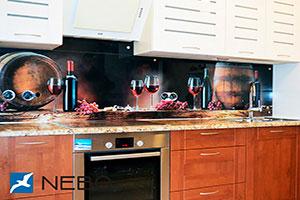 Вино для скинали в интерьере кухни - 21527