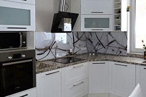 Одуванчики для скинали в интерьере кухни - 22399