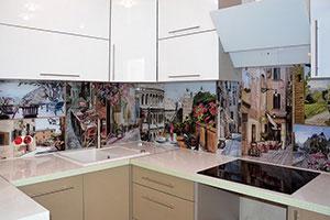 Париж для скинали в интерьере кухни - 22404
