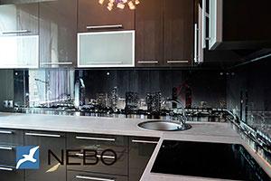 Ночные города для скинали в интерьере кухни - 21562