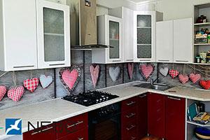 Сердечки для скинали в интерьере кухни - 21574
