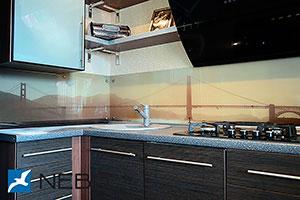 Сан-Франциско для скинали в интерьере кухни - 21578