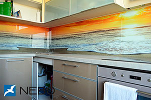 Природа для скинали в интерьере кухни - 21579