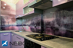 Озеро для скинали в интерьере кухни - 21580