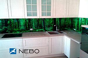 Лес для скинали в интерьере кухни - 21458