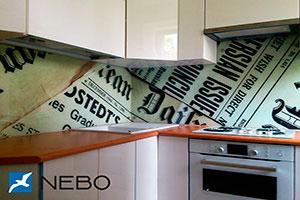 Бумага для скинали в интерьере кухни - 21505