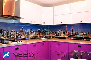 Скинали для фиолетовой и сиреневой кухни  - 21516