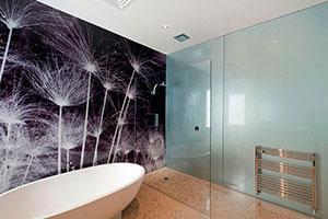 Отделка стен стеклом - 22760