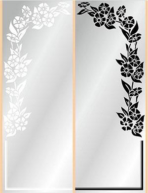 Пескоструй - Цветы - 27028