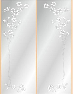 Пескоструй - Цветы - 26539