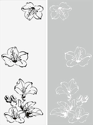 Пескоструй - Цветы - 26476