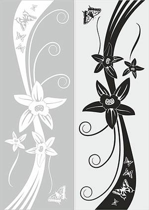 Пескоструй - Цветы - 27924