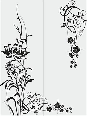 Пескоструй - Цветы - 28527