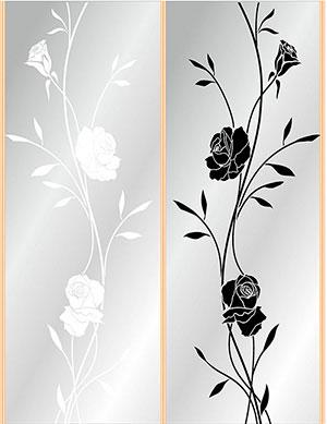 Пескоструй - Цветы - 28440