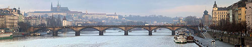 Скинали - Река Влтава в Праге