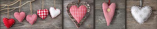 Скинали - Тканевые сердечки