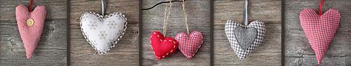 Скинали - Сердечки тканевые