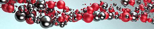 Скинали - Красивые кристаллические красно серые шары